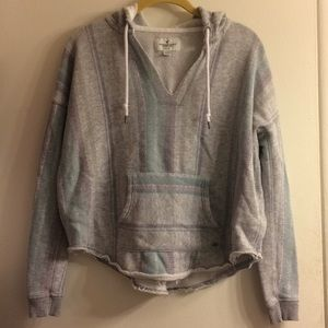 Oversized grey striped hoodie. Super comfy!